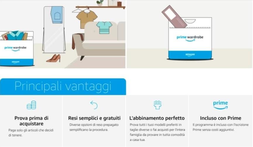 Amazon Prime Wardrobe Italia