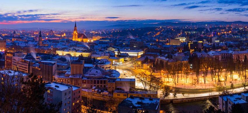 Romania , Cluj Napoca di notte