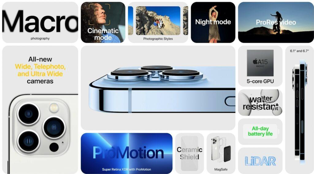 iphone 13 Pro caratteristiche