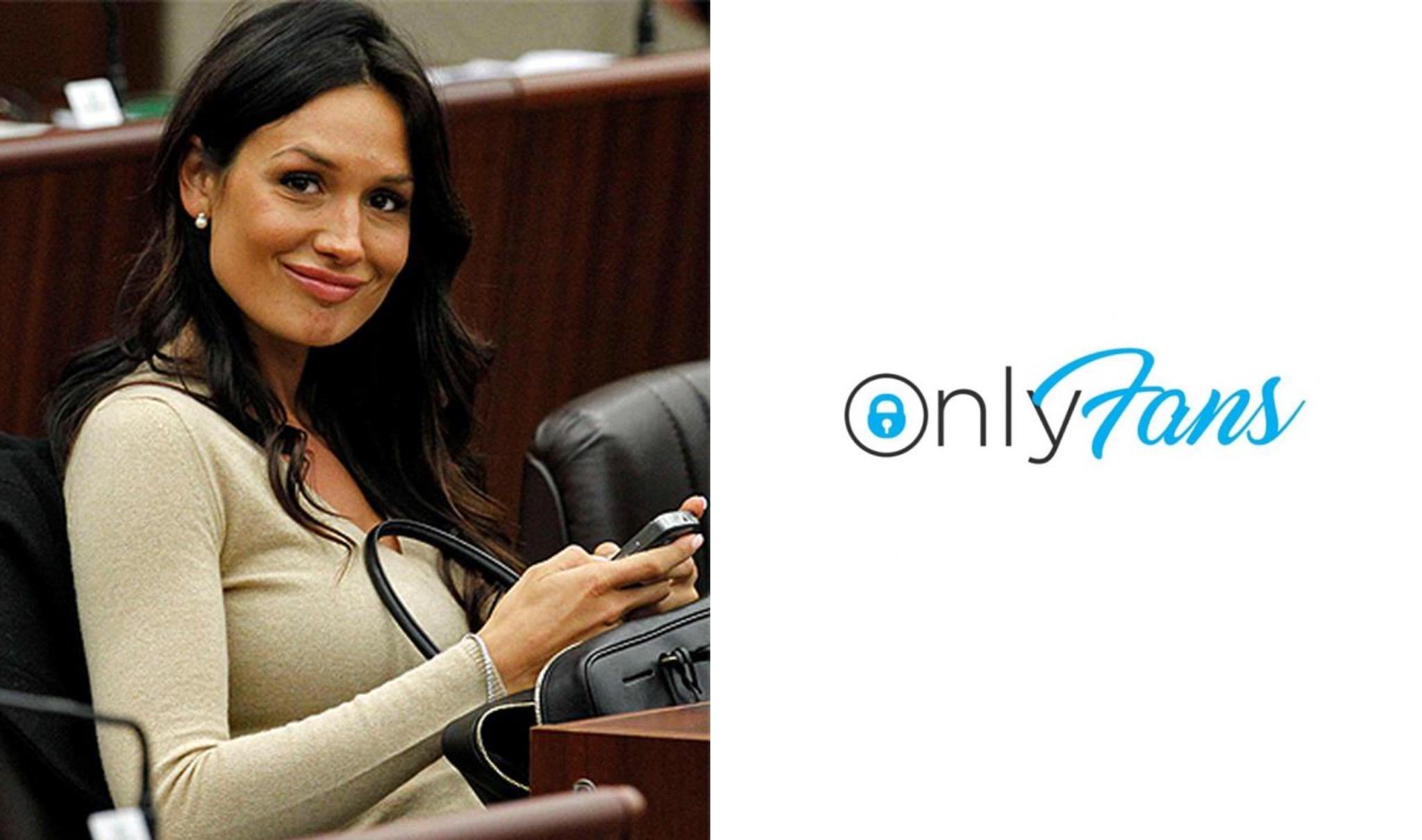 Nicole Minetti e logo OnlyFans