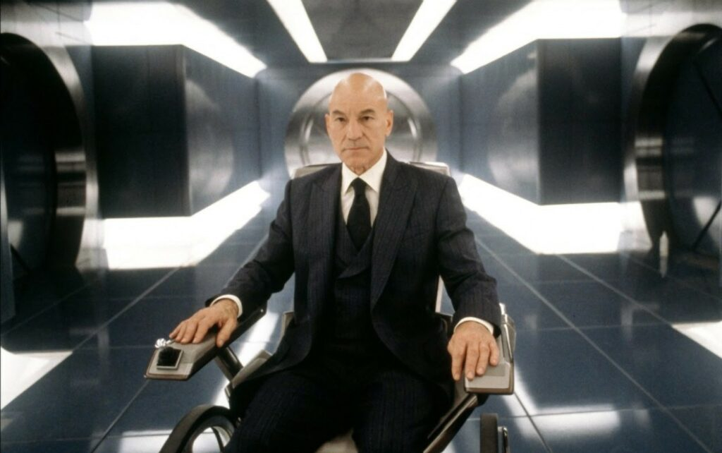 Patrick Stewart come Professor X