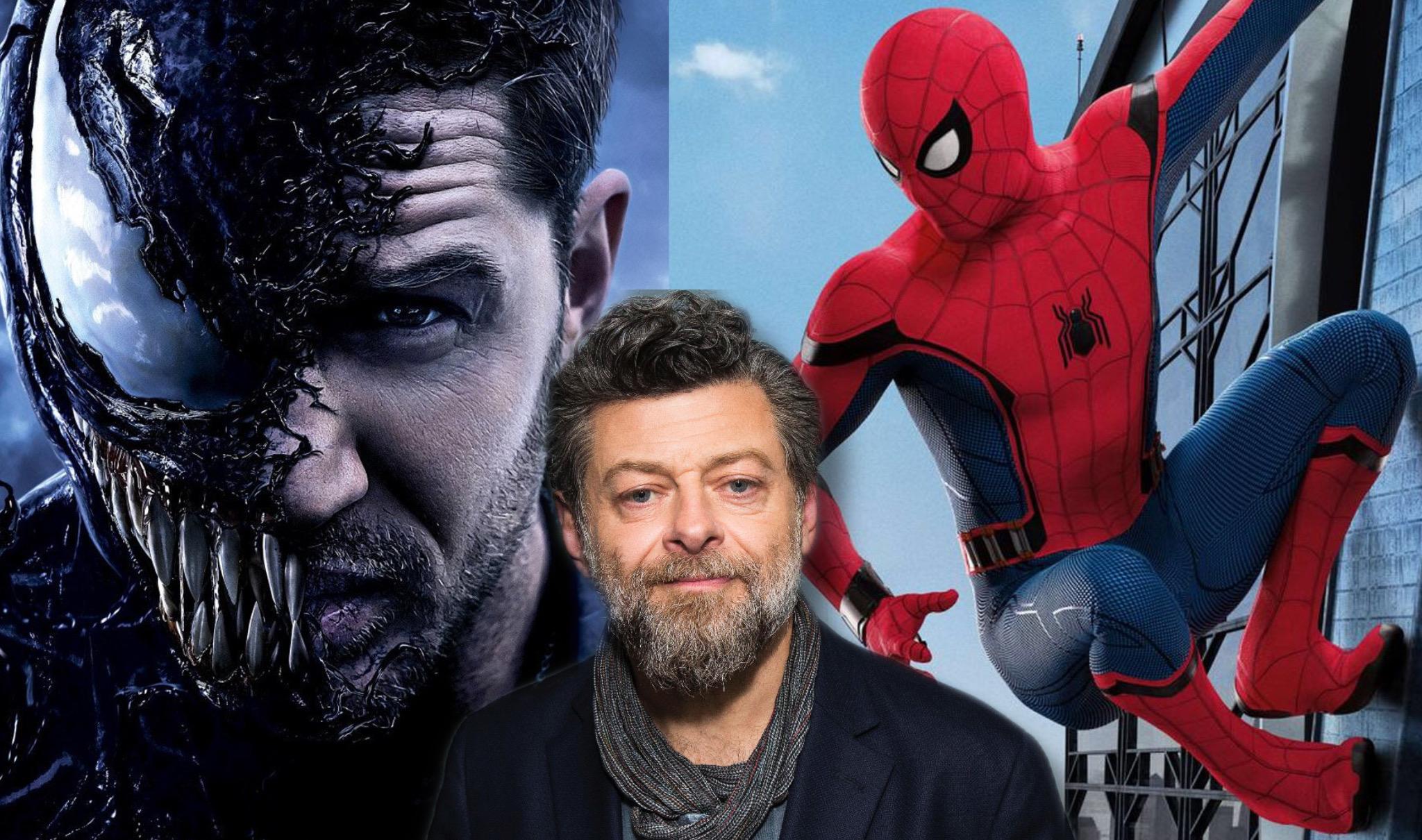 Venom di Tom Hardy, Andy Serkis e Spider-Man di Tom Holland