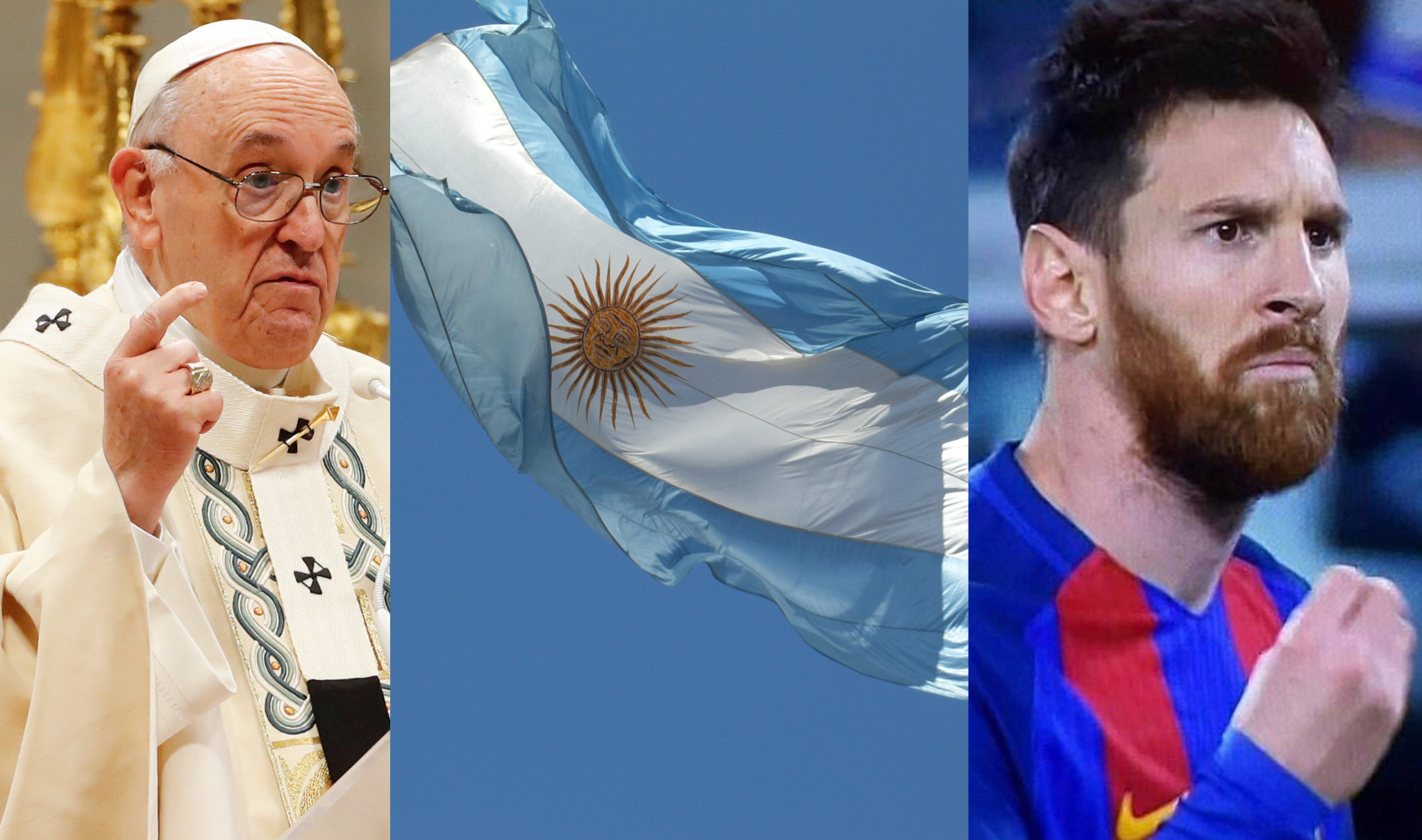 Papa Francesco, Bandiera Argentina e Messi