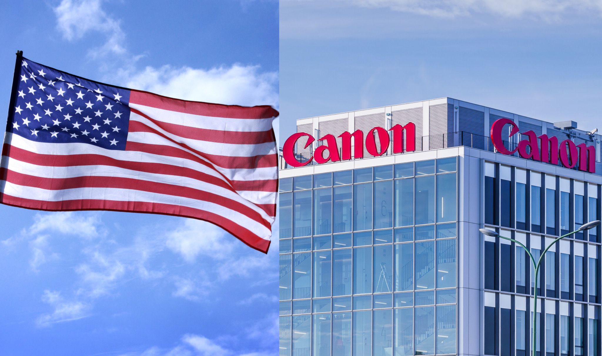 Canon e bandiera USA