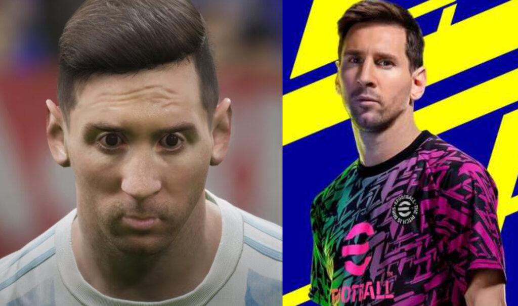 eFootball 2022 con Messi