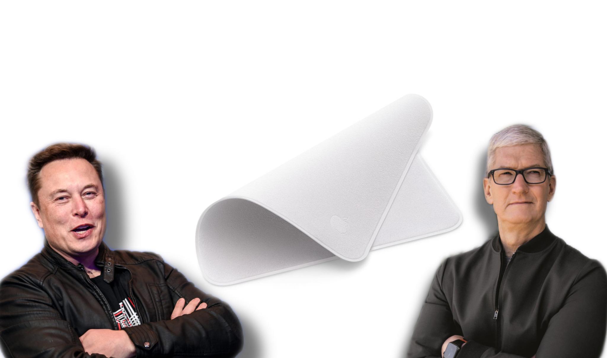 Elon Musk, Apple Panno. Tim Cook