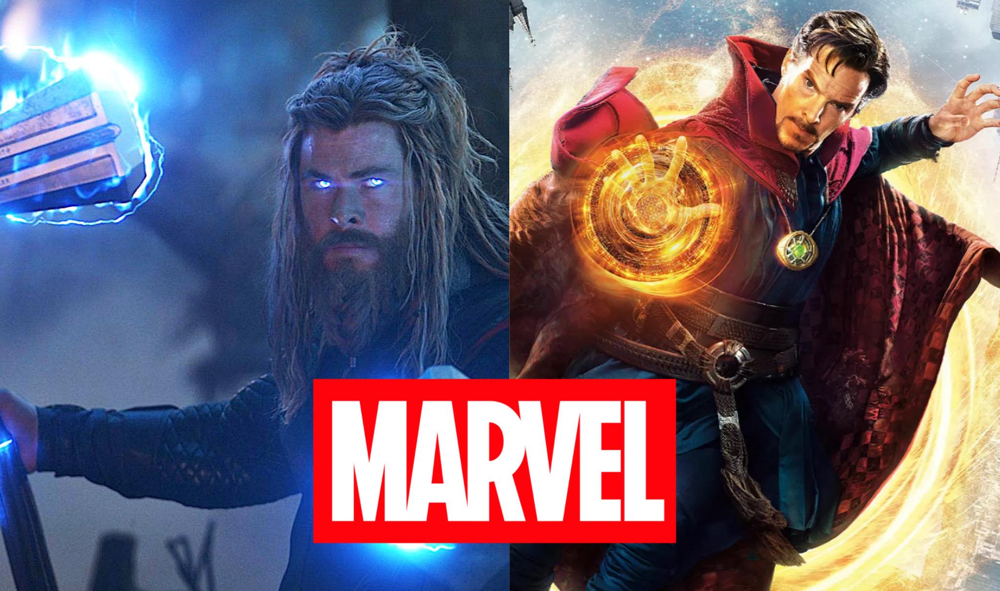 Thor, logo Marvel, Doctor Strange