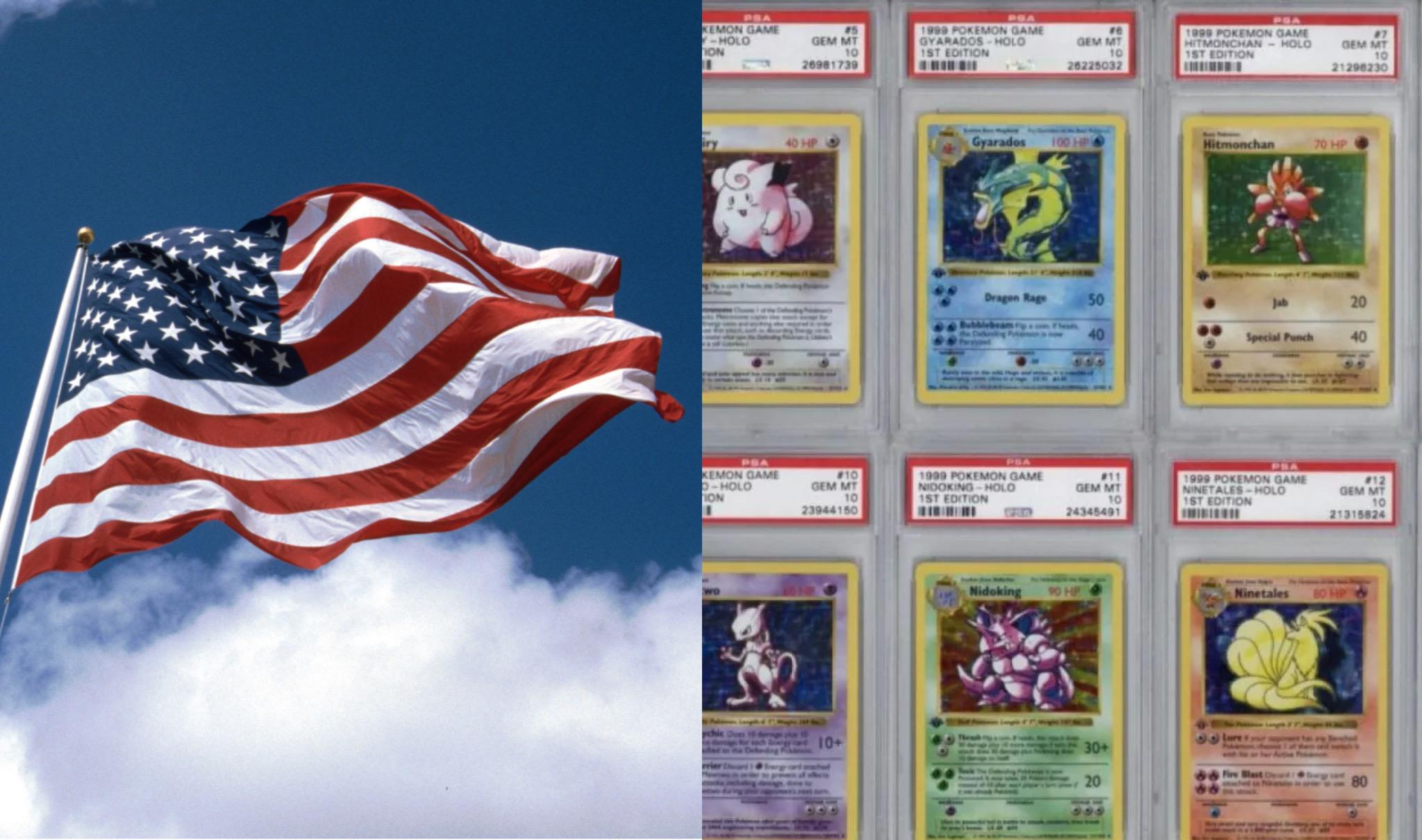Bandiera USA e TCG Pokémon